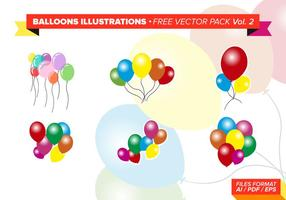 Ballons illustrations pack vecteur gratuit