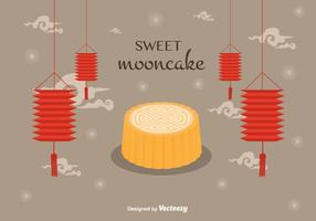 Mooncake background vectoriel