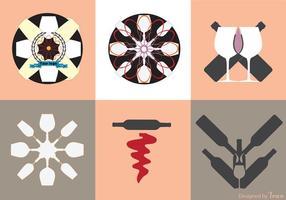Logotipos del vector del vino