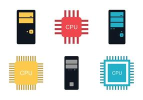 Gratis CPU vector illustratie