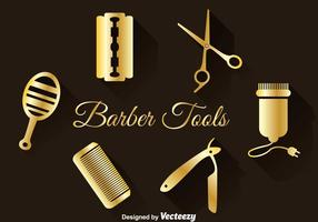 Golden Barber Tools Set