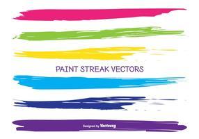 Vecteurs de rayures de peinture