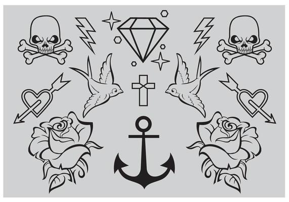 Old School Tattoo Vectors Download Free Vectors Clipart Graphics Vector Art In archive 20 files and more than 135+ floral decorative. old school tattoo vectors download