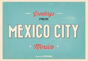 Rétro mexico city greeting illustration