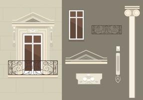 French Balcony Vectors