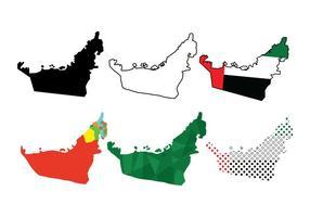 UAE Mapa Vectores