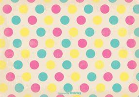 Gammal Retro Polka Dot Style Bakgrund