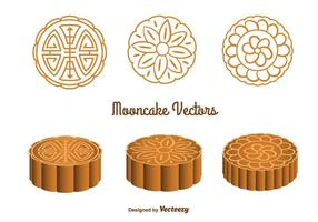 Cute Mooncake Vectors