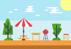 Family Picnic Vector Illustrations #5