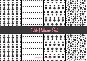 Zwart-wit Dot Pattern Vector Set