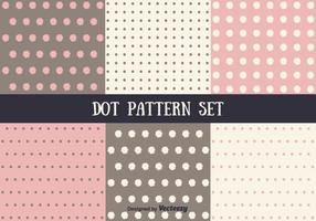 Insieme di Dot Pattern Vector rosa e marrone