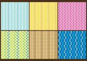 Vetores coloridos de padrões de espinha de garfo