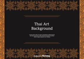 Iconos libres del vector del patrón tailandés