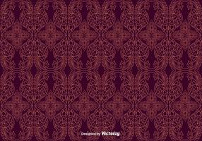 Free Maroon Thai Pattern Vector
