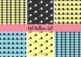 Neon dot patroon vector set