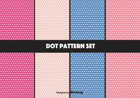 Girly vector dot patroon set