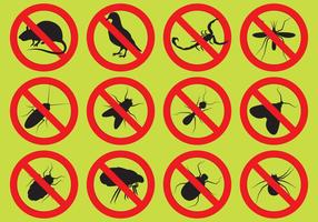 Pest control vector iconen