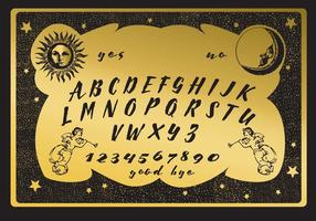 Golden Ouija Tablero