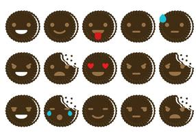 Oreo Emoticon Vectores