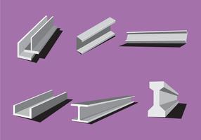Vecteurs de faisceau d'acier industriel