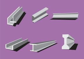 Vetores de feixe de aço industrial