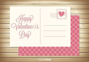 Cute Valentine's Day Post Card vector