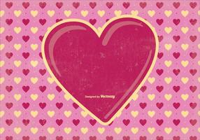 Old Valentine's Day Background Illustration vector