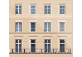 Arkitektur med balkong vektor