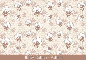 Vektor Baumwollpflanze Muster