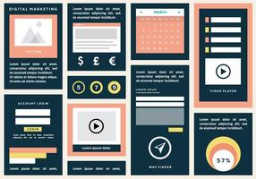 Flat Digital Marketing Vector Bakgrund