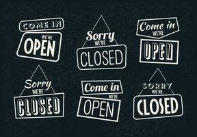 Vintage-sign-open-and-closed-vectors