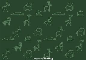 Outline Animals Pattern