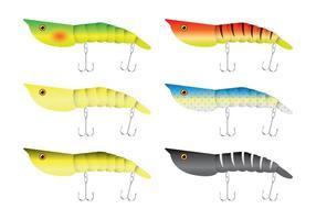 Vectores del señuelo de la pesca del camarón