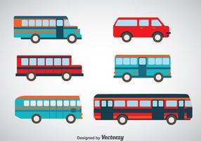 Minibus et bus set vecteurs vecteur