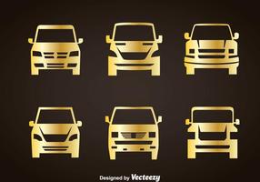 Cars Gold Icons