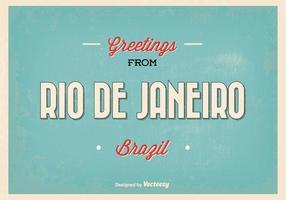 Ilustración retro del saludo de Río de Janeiro