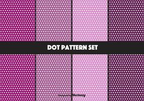 Purple Dot Pattern Vector Set