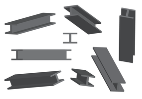 Free Steel Beam Vector