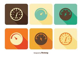 Conjunto de ícones do tacômetro