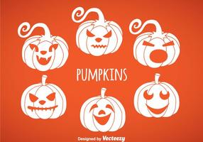 Pumpkin White Icon Vectors
