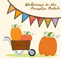 Pumpa Patch Invitation Vector