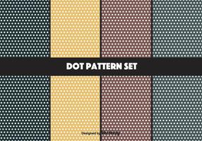 Navy och senap Vector Dot Pattern Set