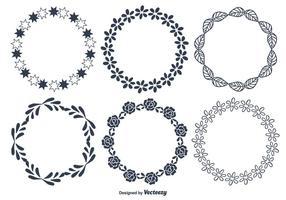 Dekorative runde Rahmen