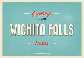 Retro Wichita Falls hälsning illustration