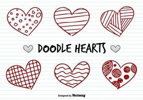 Vetores do Doodle dos corações do amor