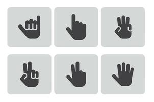 Handgesten Icon Set
