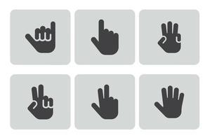 Conjunto de ícones de Gestos de mão
