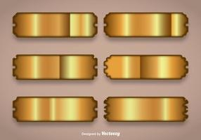 Shiny Gold Name Plate Vectors
