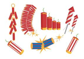 Fire Crackers Vectors