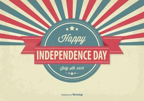 Ilustración del Día de la Independencia del vintage